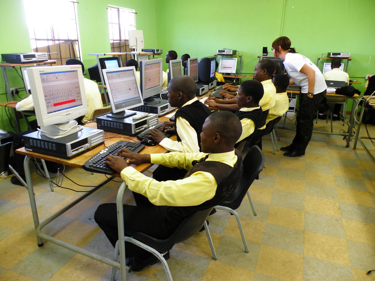 Datorsalen på Mgundandlovu