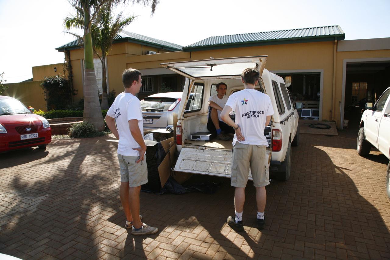 Packar bilen för Durban