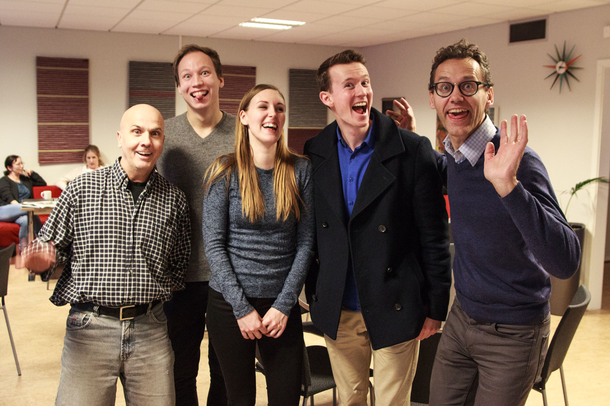 From left to right: Glenn, Hampus, Matilda, Daniel and Samuel. No, we are not this crazy all the time. Or are we?