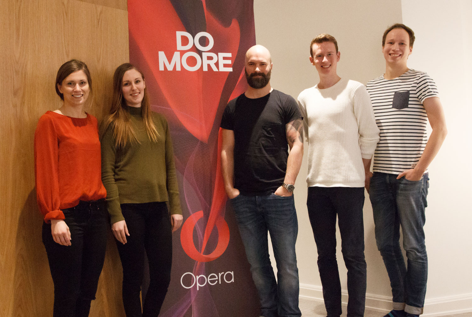From left to right: Hanna Björk (Opera), Matilda, Niklas Beischer (Opera), Daniel and Hampus.