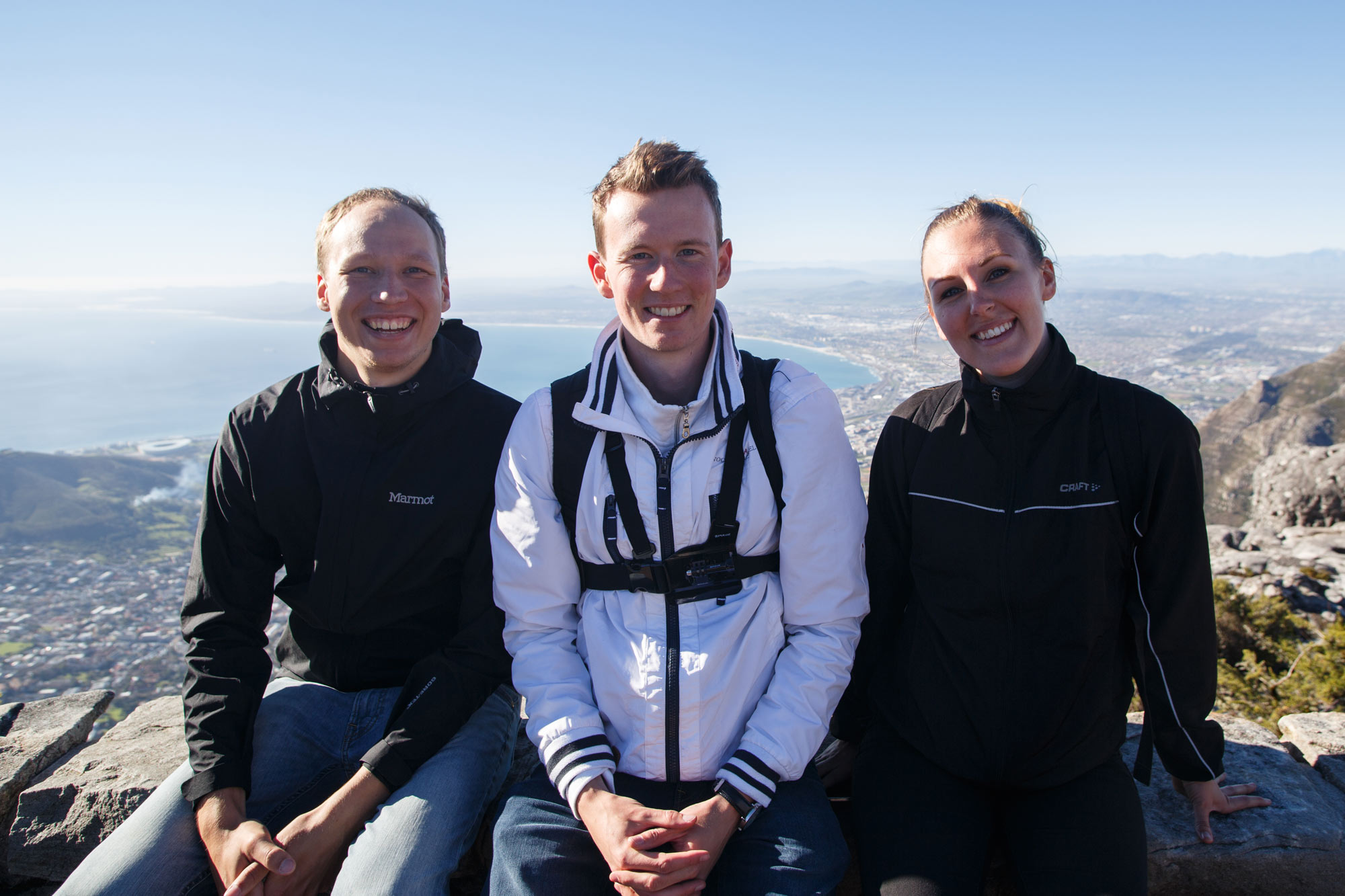 On the top of the Table Mountain.