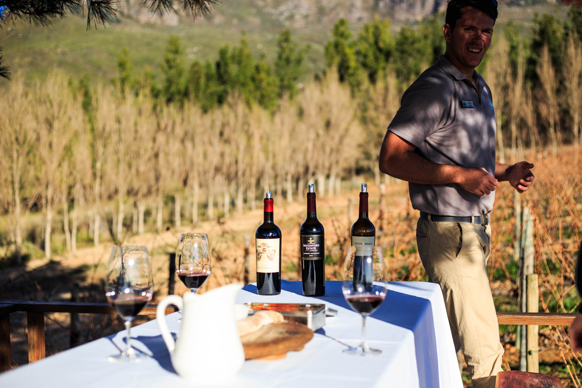 The Wine Drive Safari at Waterford Estate in Stellenbosch. The guy is Justin, our guide.