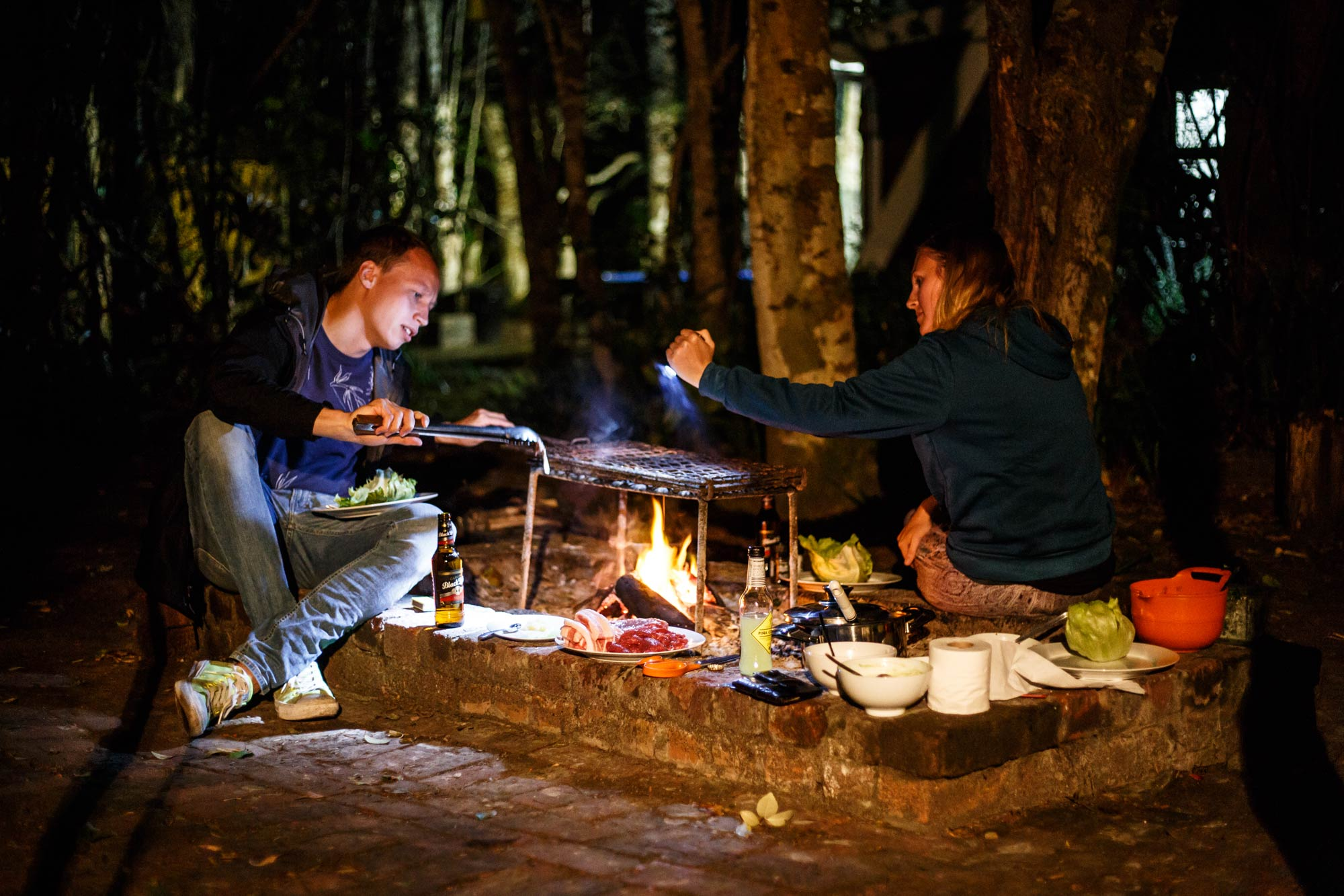 """""""Braaing"""" in Nature's Valley."""