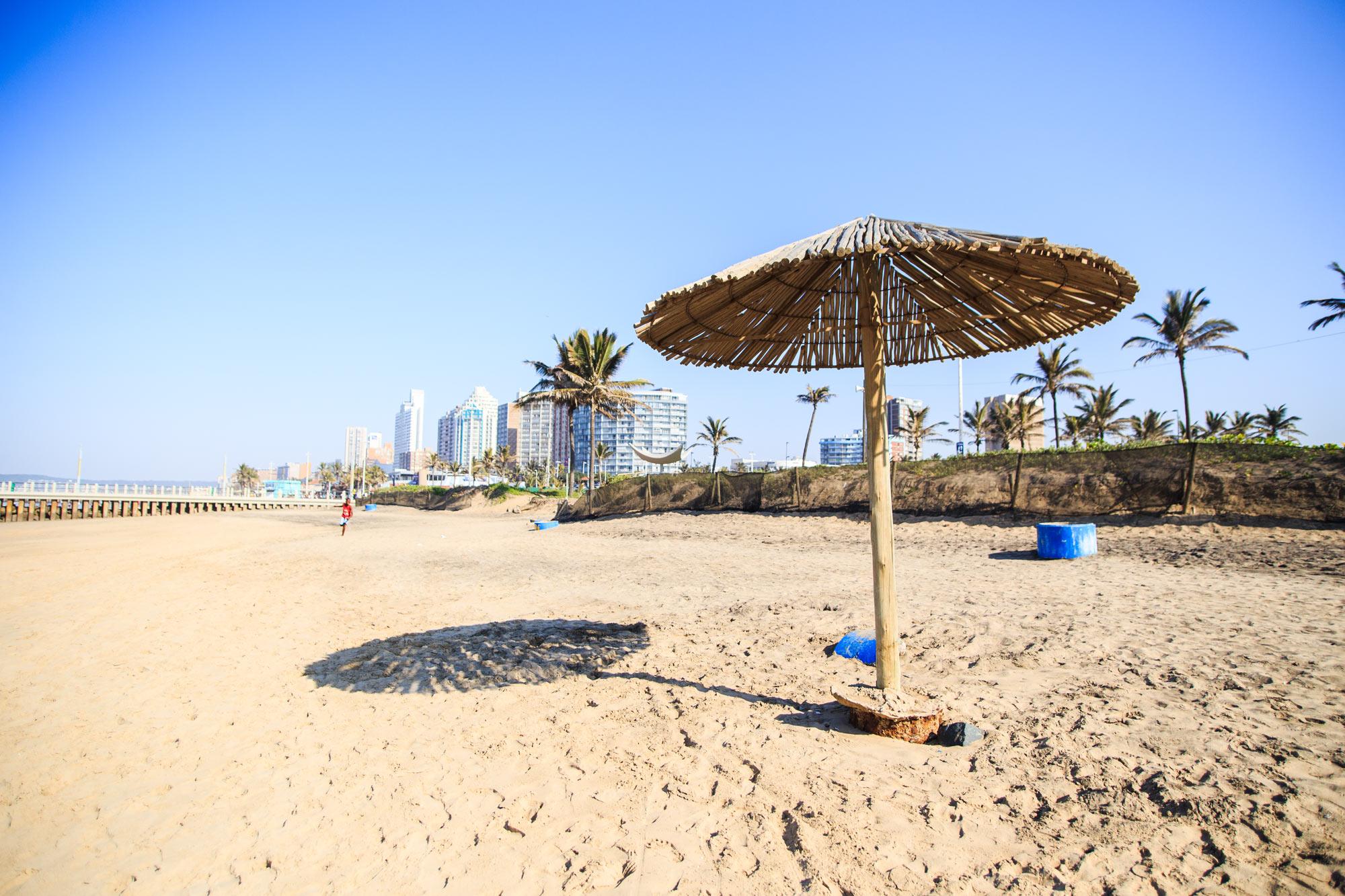 A beach in Durban.