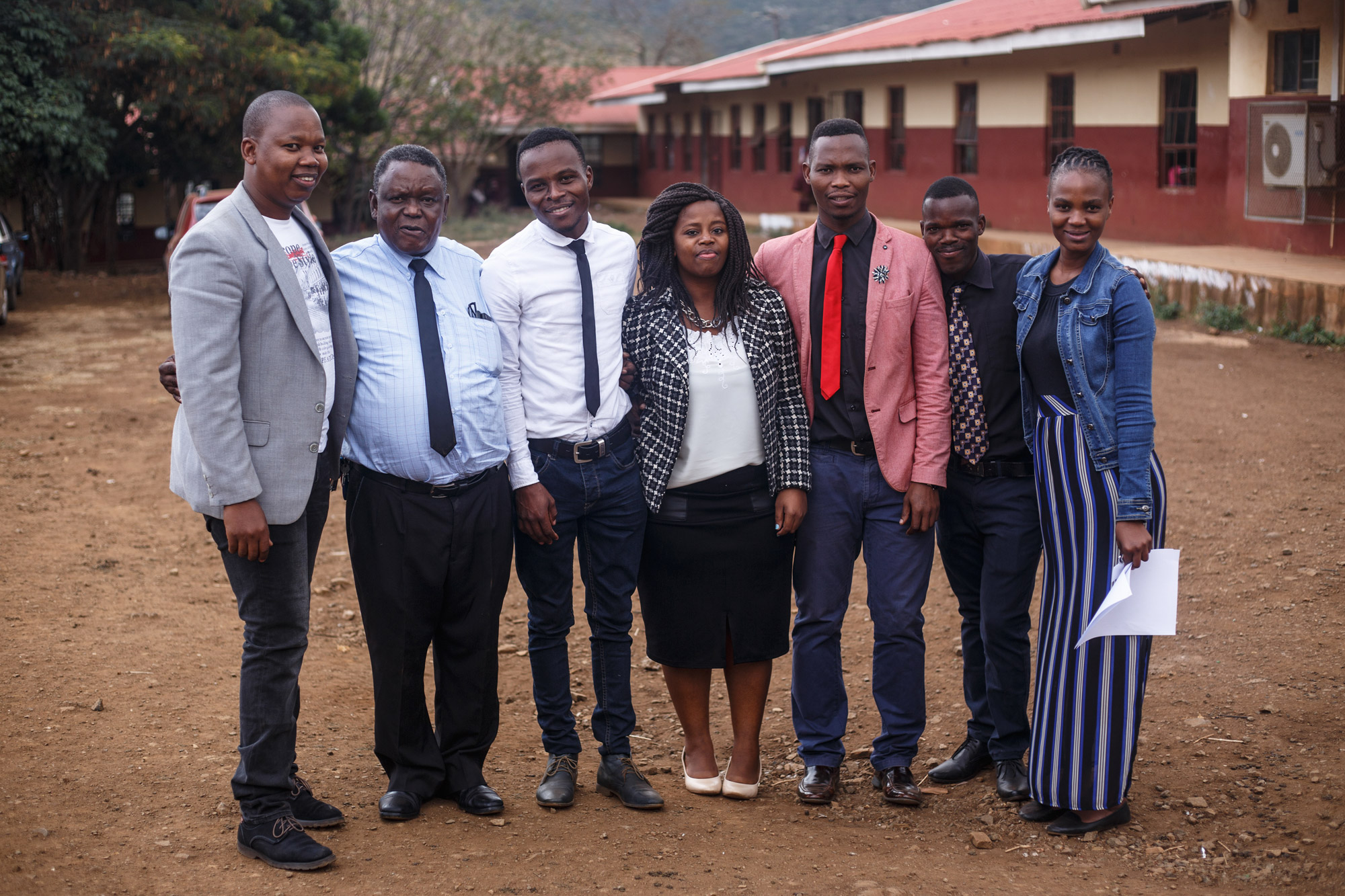 Teachers, the principal and employees at Bonga High School.
