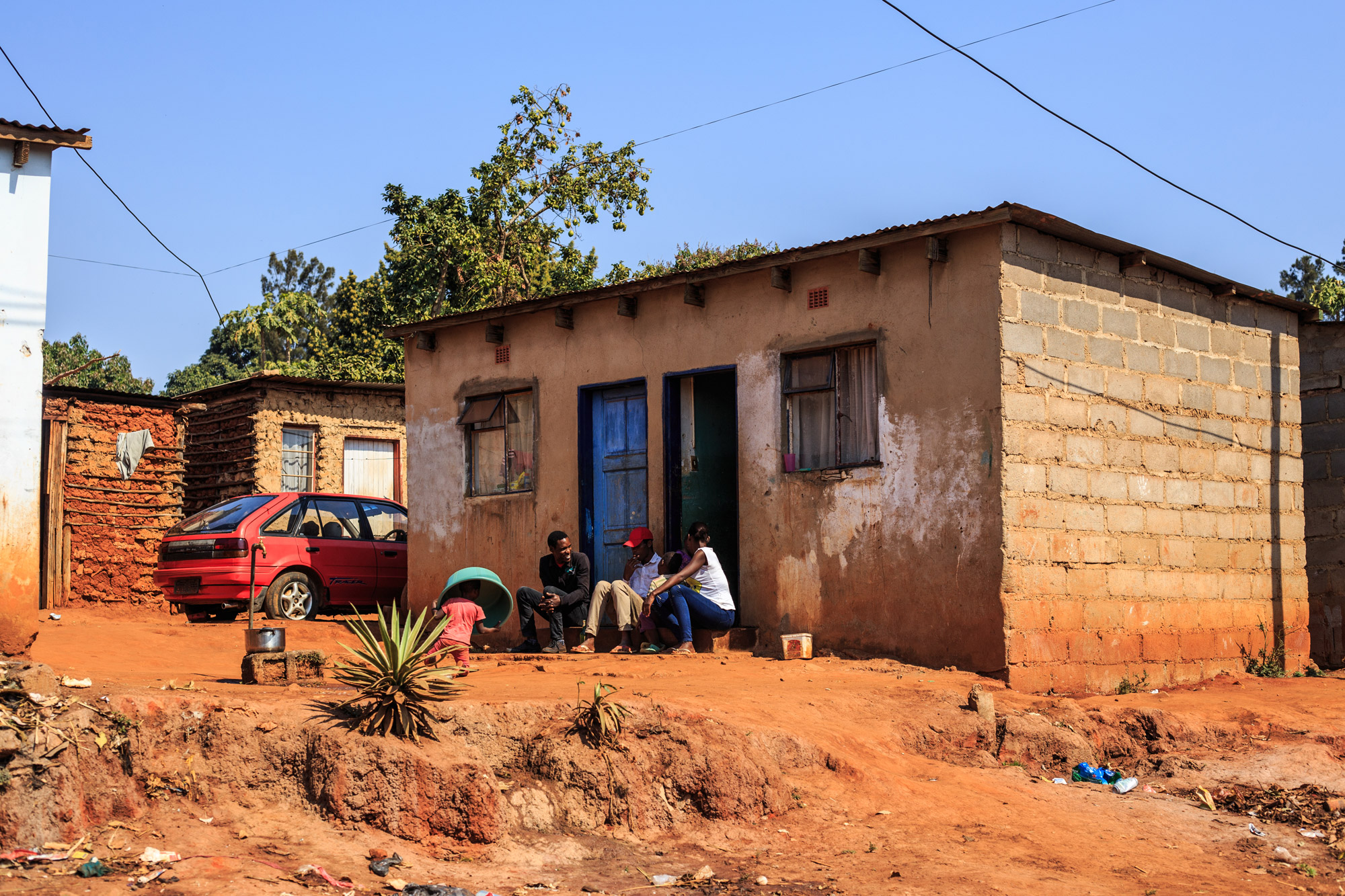 A typical residence in Swaziland.